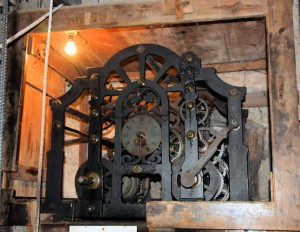 Church clock works