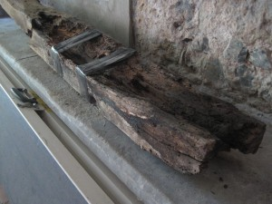 Rotten rafter from S aisle roof