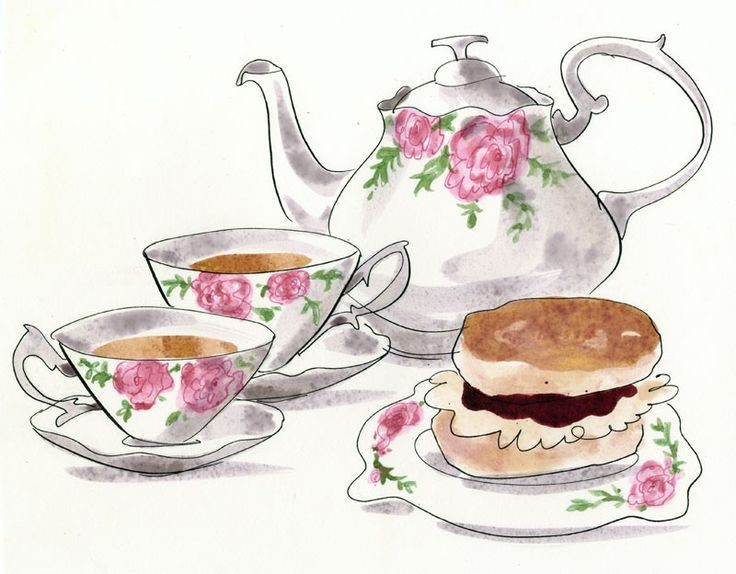 Tea & cake graphic